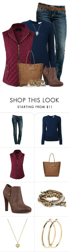"""""""Puffer"""" by kat620 ❤ liked on Polyvore featuring Rock Revival, Tory Burch, Nine West, Lizzy James, Michael Kors, Pieces and Paige Denim"""