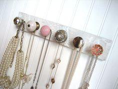 Jewelry Organizer / Necklace Storage with 6 Pink by sweetsadiek