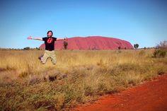 """I believe i can fly"" - Ayers Rock @Australia @AusOutbackNT #uluru  www.parkmyvan.com.au #ParkMyVan #Australia #Travel #RoadTrip #Backpacking #VanHire #CaravanHire"