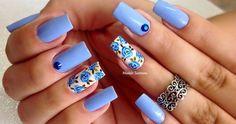 Uñas florales para temporada primavera-verano 2017, ¡ficha estas ideas! Flower Nail Art, Nail Art Designs, My Nails, Beauty Hacks, Hair Beauty, Nail Polish, Make Up, Women, Manicures