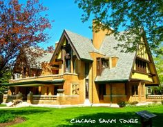 Frank Lloyd Wright's Oak Park Architecture: Nathan G Moore House, 1895/1923.   Nathan Moore requested a Tudor revival home, and a Tudor revival home he got, but not without Wright's personal flares. Frank Lloyd Wright had the honor of designing the house twice, first in 1895, and again in 1923 after a Christmas Day fire in 1922.