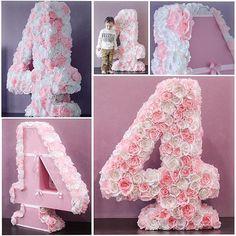 Цифра 4 из бумажных цветов для девочки!  105х85х25см. #цифраизцветов #4birthday #цифраизбумаги #4yearsold #цветыизбумаги #цифранаденьрождения