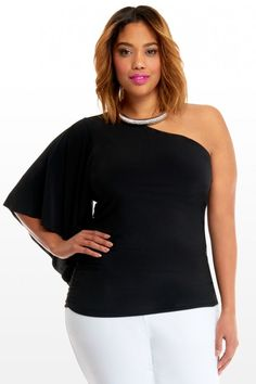plus size one shoulder tops (02)