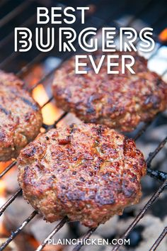 Best Burgers EVER! – these are hands down the best burgers I've ever eaten! Hamburger, on Grilled Burger Recipes, Hamburger Meat Recipes, Chicken Recipes, Best Grilled Burgers, Hamburger Ideas, Best Burger Recipe, Turkey Burger Recipes, Grilled Cheeses, Sauce Teriyaki