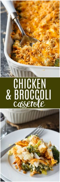 Chicken and Broccoli Casserole - A Twist On My Mom's Classic Recipe Enjoy As A Comfort Food Meal Or A Holiday Side Dish. Ritz Crackers, New Chicken Recipes, Turkey Recipes, Chicken Broccoli Casserole, Broccoli Bake, Broccoli Recipes, Casserole Recipes, Casserole Dishes, Classic Recipe