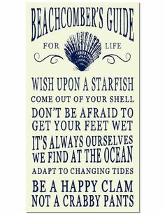This fun Ocean Beach Sign is for those who take their advice from the sea. It's one of several ocean beach advice signs from Bed Bath & Be. Beach Cottage Style, Beach House Decor, Coastal Style, Coastal Decor, Diy Beachy Decor, Coastal Living, Fishing Shack, I Need Vitamin Sea, Military Gifts