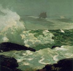 Homer, Winslow [American Painter, On a Lee Shore 1900 Oil on canvas 39 x 39 in Rhode Island School of Design, Providence, USA Seascape Paintings, Landscape Paintings, Winslow Homer Paintings, American Artists, American Realism, Fine Art Prints, Art Gallery, Tumblr, Masters
