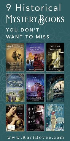 While modern day mystery novels are relatable and exciting to read, there is a greater extent of escapism to historical mystery books. Here are a few of my favorites. Best Mystery Books, Best Mysteries, Mystery Novels, Mystery Series, Cozy Mysteries, Murder Mysteries, Books To Read, My Books, Historical Fiction Books