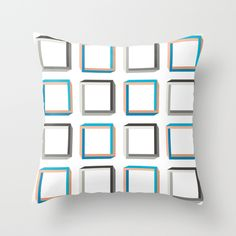 Impossible shapes alternating pattern. Throw Pillow. #GeekArt #Society6 #Impossible #Geometric