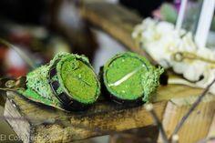 Steampunk Greenpunk Schutzbrillen grün Moos Ödland
