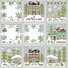 Country Cottage Needleworks - Frosty Forest - nr. 6 - Snowy Foxes | Country Cottage Needleworks | `t Gaerenhuys