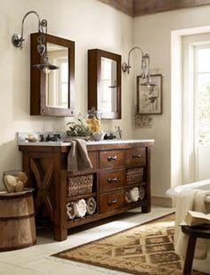 Rustic Lodge Bathroom Photo Gallery | Design Studio | Pottery Barn