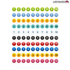 Free Number Icons Pack PSD