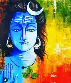 Lord Ganesha Paintings, Lord Shiva Painting, Krishna Painting, Ganesha Drawing, Shiva Art, Krishna Art, Hindu Art, Kerala Mural Painting, Indian Art Paintings