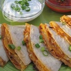 Quesadillas de frango ao barbecue @ allrecipes.com.br