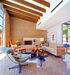 Mitte Des Jahrhunderts Modernen Haus Interieur #Möbel