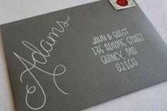 Calligraphy Envelope Addressing Handwritten door 5thFloorDesigns                                                                                                                                                     More