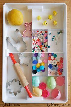 Easter Themed Play Dough: Invitation to Play | Nanny Anita | My Baba