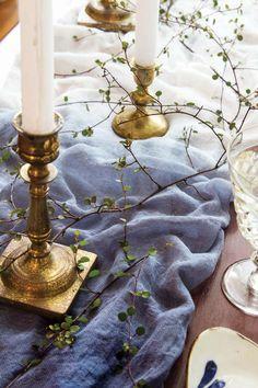 How To Dip Dye An Indigo Wedding Table Runner