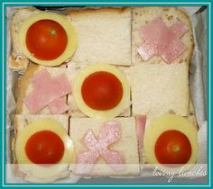 Loving Lunches naughts & crosses sandwich