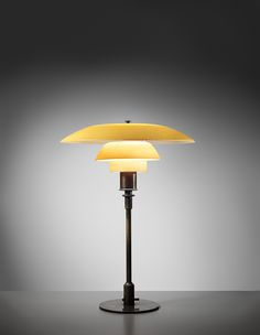 POUL HENNINGSEN Early and rare table lamp, type 4/3 shades, circa 1927