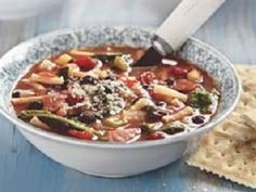 Easy Minestrone Soup-This is a Low Calorie, Low Fat, Low Cholesterol, Weight Watchers (5) PointsPlus+ recipe for a hearty, delicious soup. Loaded with vegetables and cheesy pasta. It can easily be converted to a Vegetarian recipe also by replacing the chicken broth with vegetable Broth. Makes 12 servings