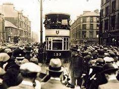 An Old Tram in Edinburgh.