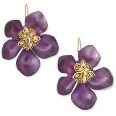 Prairie Crocus Floral Lucite Earrings