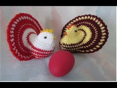 Gaina crosetata - Model foarte usor si rapid / Tutorial pas cu pas - YouTube Happy Easter, Crochet Earrings, Diy, Handmade, Crochet Ideas, Crochet Stitches, Crocheting, Easter Eggs, Toss Pillows