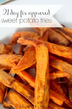 21 Day Fix Approved Sweet Potato Fries Yellow, 2 Tbsp) // 21 Day Fix // fitn. - 21 Day Fix Approved Sweet Potato Fries Yellow, 2 Tbsp) // 21 Day Fix // fitness // fitspo // wo - 21 Day Fix Diet, 21 Day Fix Meal Plan, Nutrition Education, Clean Eating Recipes, Cooking Recipes, 21 Day Fix Snacks, Beachbody 21 Day Fix, Healthy Snacks, Healthy Recipes