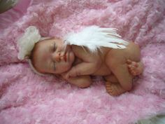 reborn baby doll Angel from an ashton drake sculpt by Marita winters