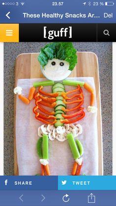 Skelet af grøntsager