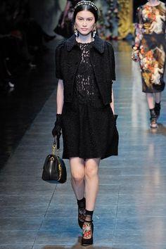lace dress with bouclé skirt by DOLCE & GABBANA