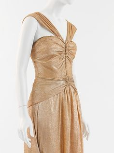 Lamé Evening Gown, 1934 Coco Chanel