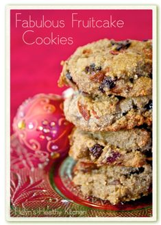 Helyn's Healthy Kitchen: Fabulous Fruitcake Cookies. Vegan, Grain-free and Oil-free.