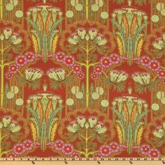 Amy Butler Soul Blossoms Passion Fuchsia Tree Carmine