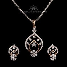 Alluring Diamond Pendant Set