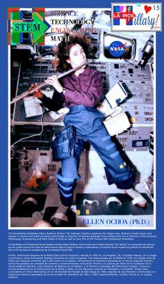 #HappyAnniversary of #Human Living Working in Space w/ Female NASA Astro #EllenOchoa #FM #Hillary2016 #STEM #ChristinaAguilera #solar