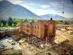Provo Tabernacle Utah, Temple Utah, Floating Church Utah, construction sites, churches, Mormon temple Utah, building shell
