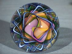 "Marbles Hand Made Art Glass Alloway Dichroic ""Weldons World"" 48 2 2 Inch | eBay"