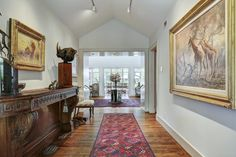 Entry hall to reception room. Memorial Villages Houston TX Real Estate - 2210 South Piney Point Rd