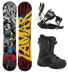 Lamar Cranium ZOMBIES Complete Snowboard Package with Flow Flite 2 Men's Bindings and Flow Vega BOA Men's Boots BOARD SIZE 148