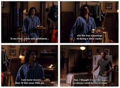 Luke and Lorelai - Gilmore Girls Gilmore Girls Funny, Gilmore Girls Quotes, Luke And Lorelai, Lorelai Gilmore, Best Tv Shows, Best Shows Ever, Movies And Tv Shows, Tv Show Quotes, Movie Quotes