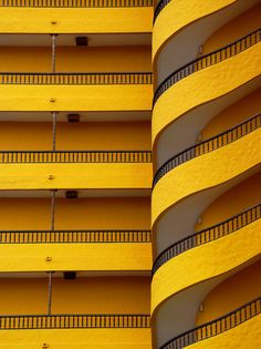 yellow Swirling yellow balcony in Playa del Ingles, Canary Islands; Arild StoraasSwirling yellow balcony in Playa del Ingles, Canary Islands; Baroque Architecture, Amazing Architecture, Architecture Details, Modern Architecture, Installation Architecture, Building Architecture, Modern Buildings, Orange Architecture, Architecture Wallpaper