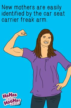 Freak arms unite! You can send this #funnyecard about #motherhood at hahasforhoohas.com. Zing!