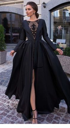 Lovely black dress with side slit, Shop plus-sized prom dresses for curvy figures and plus-size party dresses. Ball gowns for prom in plus sizes and short plus-sized prom dresses for Beautiful Prom Dresses, Black Wedding Dresses, Elegant Dresses, Pretty Dresses, Formal Dresses, Sexy Dresses, Summer Dresses, Casual Dresses, Long Dresses