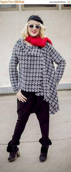 New in our shop! SALE Asymmetrical Wool Plaid Jacket / Plaid Wool Coat TC36 https://www.etsy.com/listing/213517181/sale-asymmetrical-wool-plaid-jacket?utm_campaign=crowdfire&utm_content=crowdfire&utm_medium=social&utm_source=pinterest