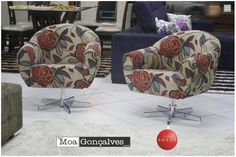 poltronas decorativas estampadas