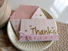 Sizzix Tutorial | Thanks Notecard by Audrey Pettit