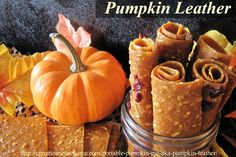 This dried pumpkin leather is a tasty, easy to make snack that tastes like pumpkin pie. Nutritious, portable, and doubles as a way to store extra pumpkin. Do in a dehydrator. Canning Recipes, Raw Food Recipes, Pumpkin Recipes, Fall Recipes, Pumpkin Pumpkin, Pumpkin Dessert, Pumpkin Puree, Pumpkin Spice, Fruit Leather Recipe